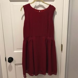 ModCloth Red Lace Size Large Dress